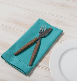 Hemstitch Napkin - Turquoise Single