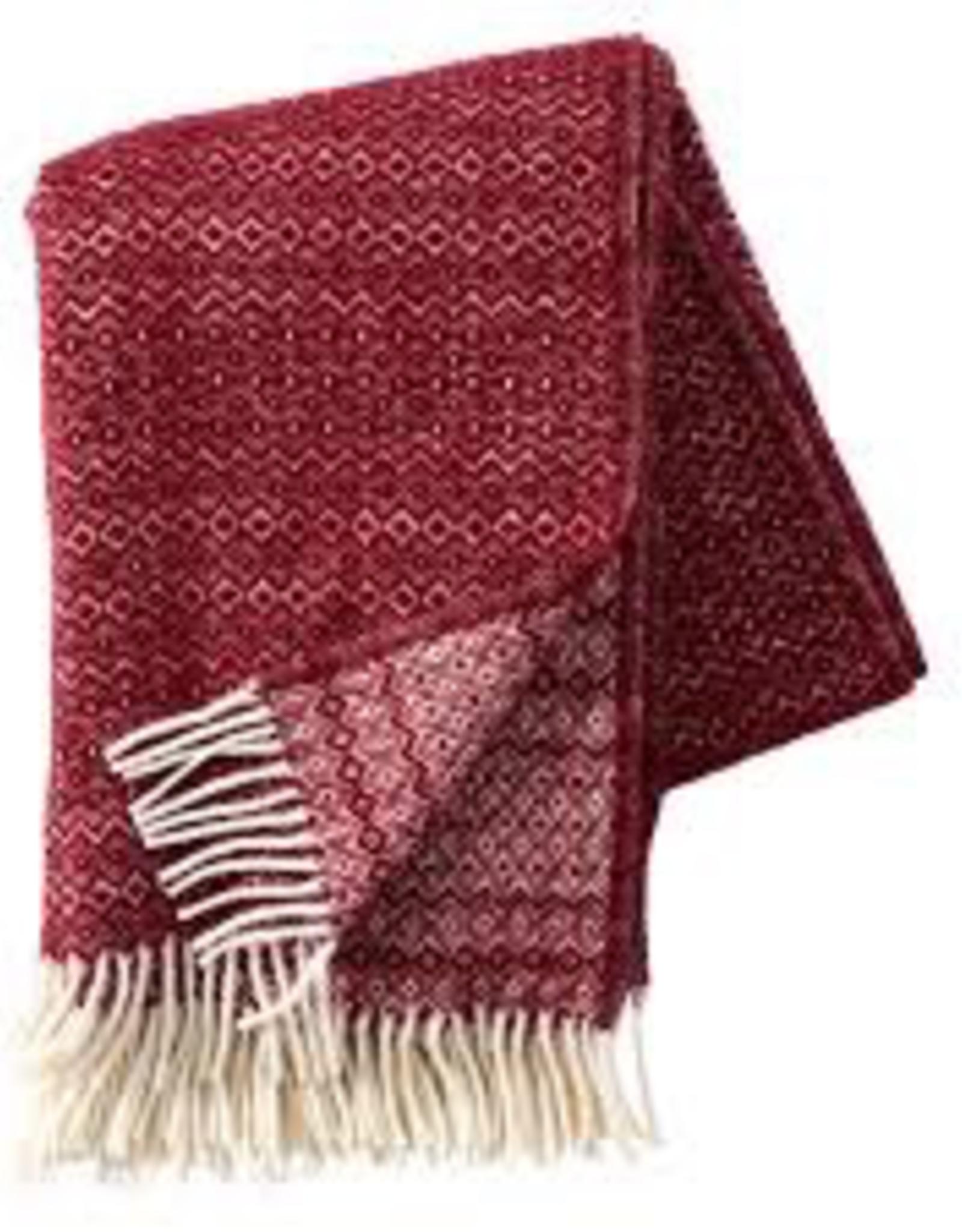Hekla Throw Bordeaux - 100% Eco Lambs Wool
