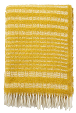 Roy Throw Yellow - 100% Eco Lambs Wool