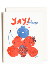 Yay Its your Day Letterpress Card