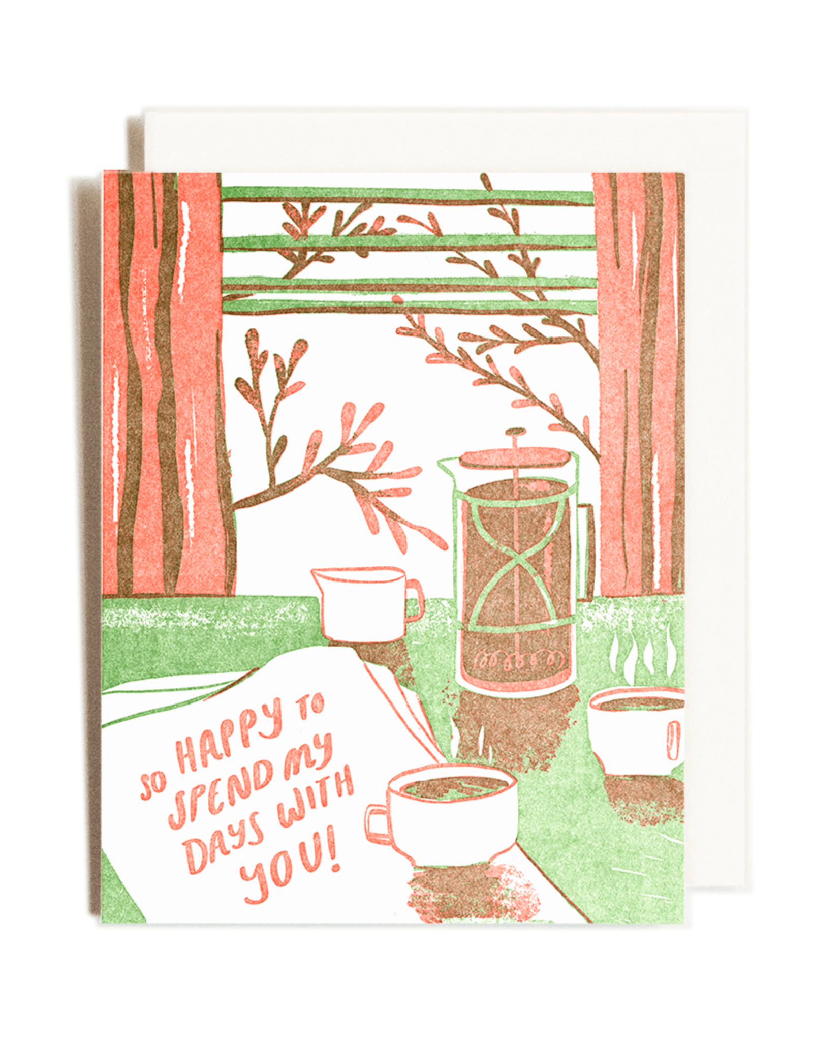 Happy With You Letterpress Birthday