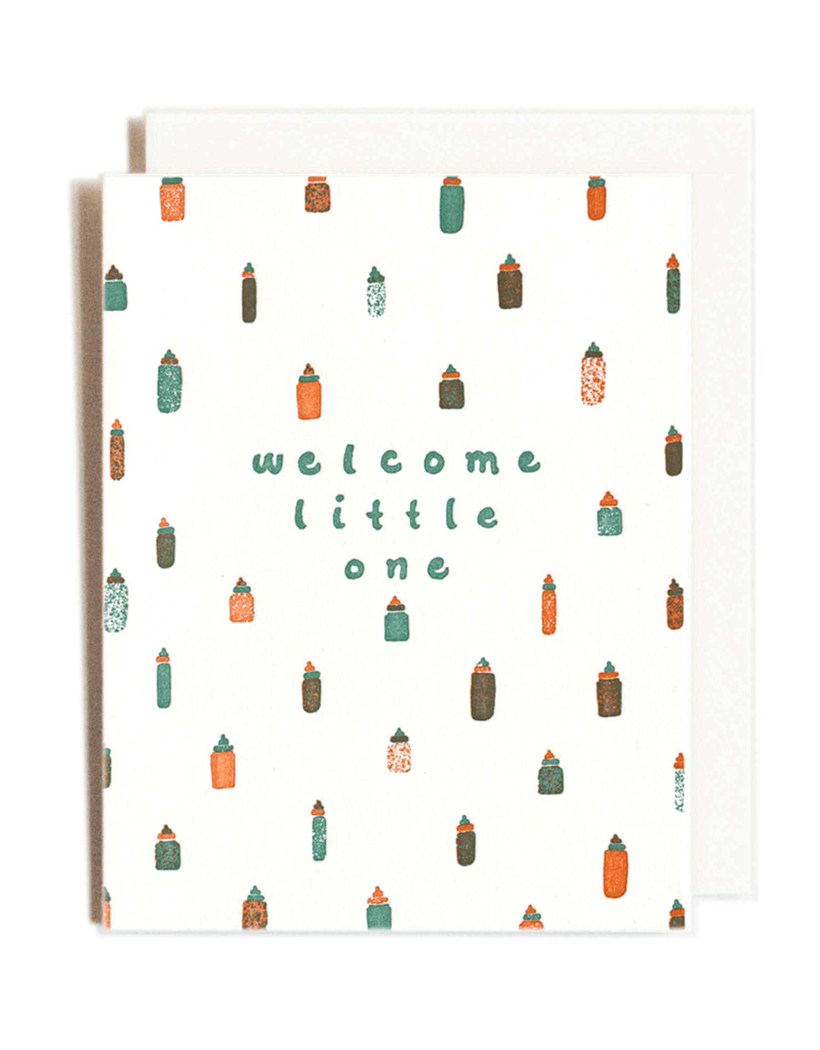 Welcome Little One Letterpress Card