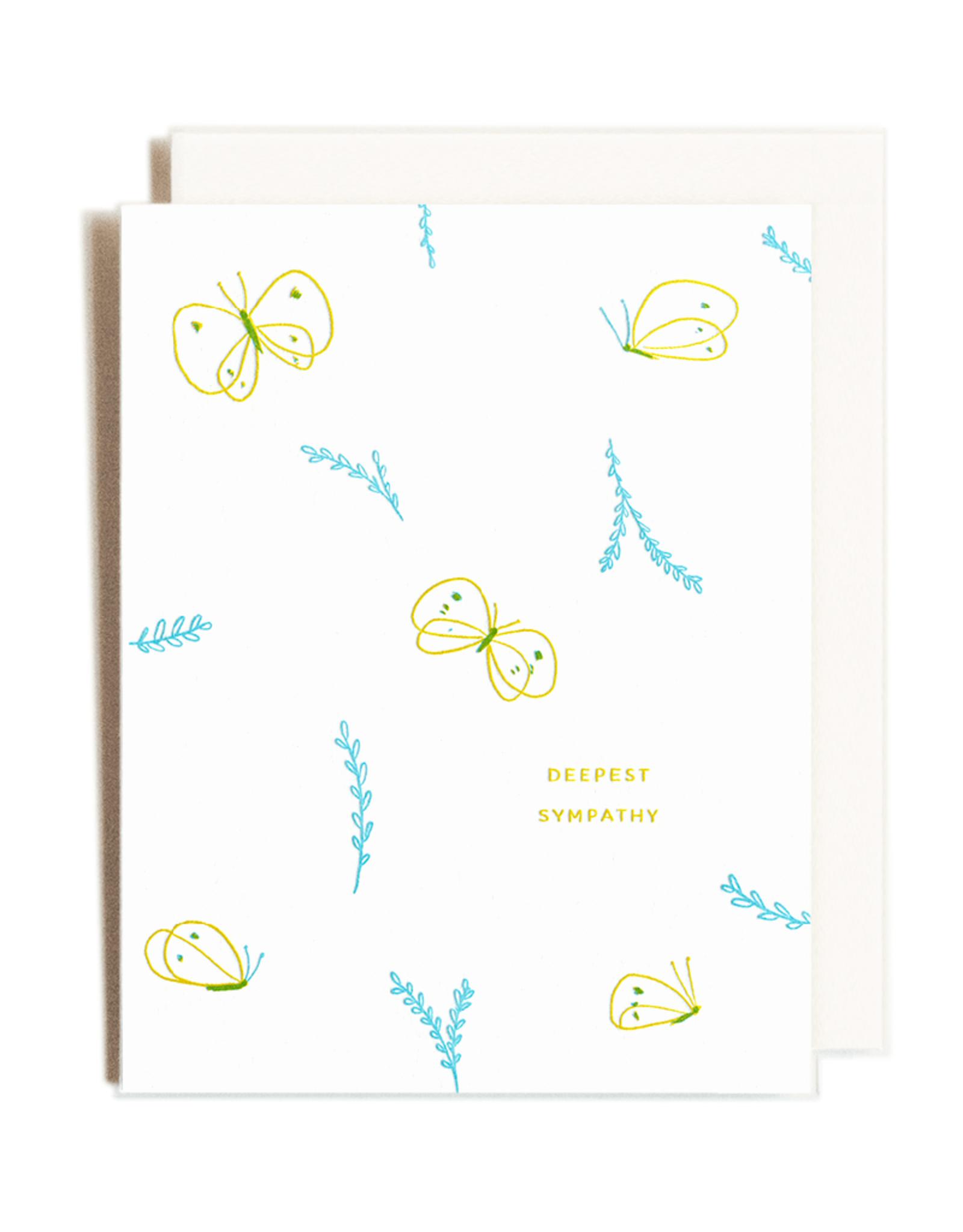 Sympathy Letterpress Card