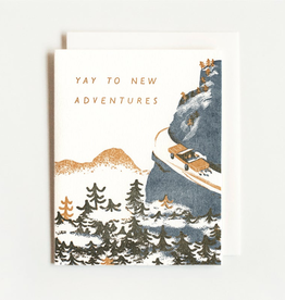 New Adventures Letterpress Card