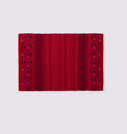 Atlas Rug, Red 4x6 100% Wool