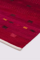 Atlas Hallway Runner Red 100% Wool