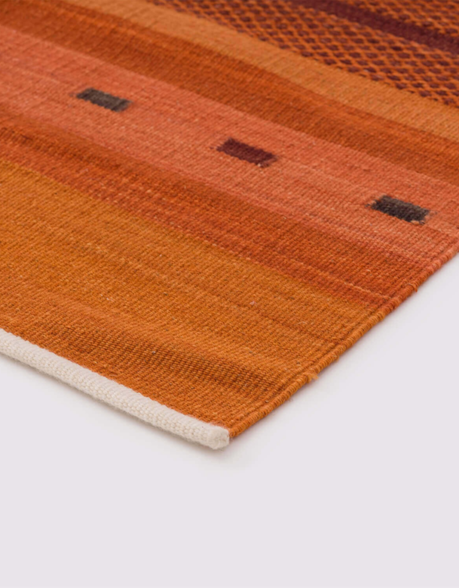 Atlas Hallway Runner Orange 100% Wool