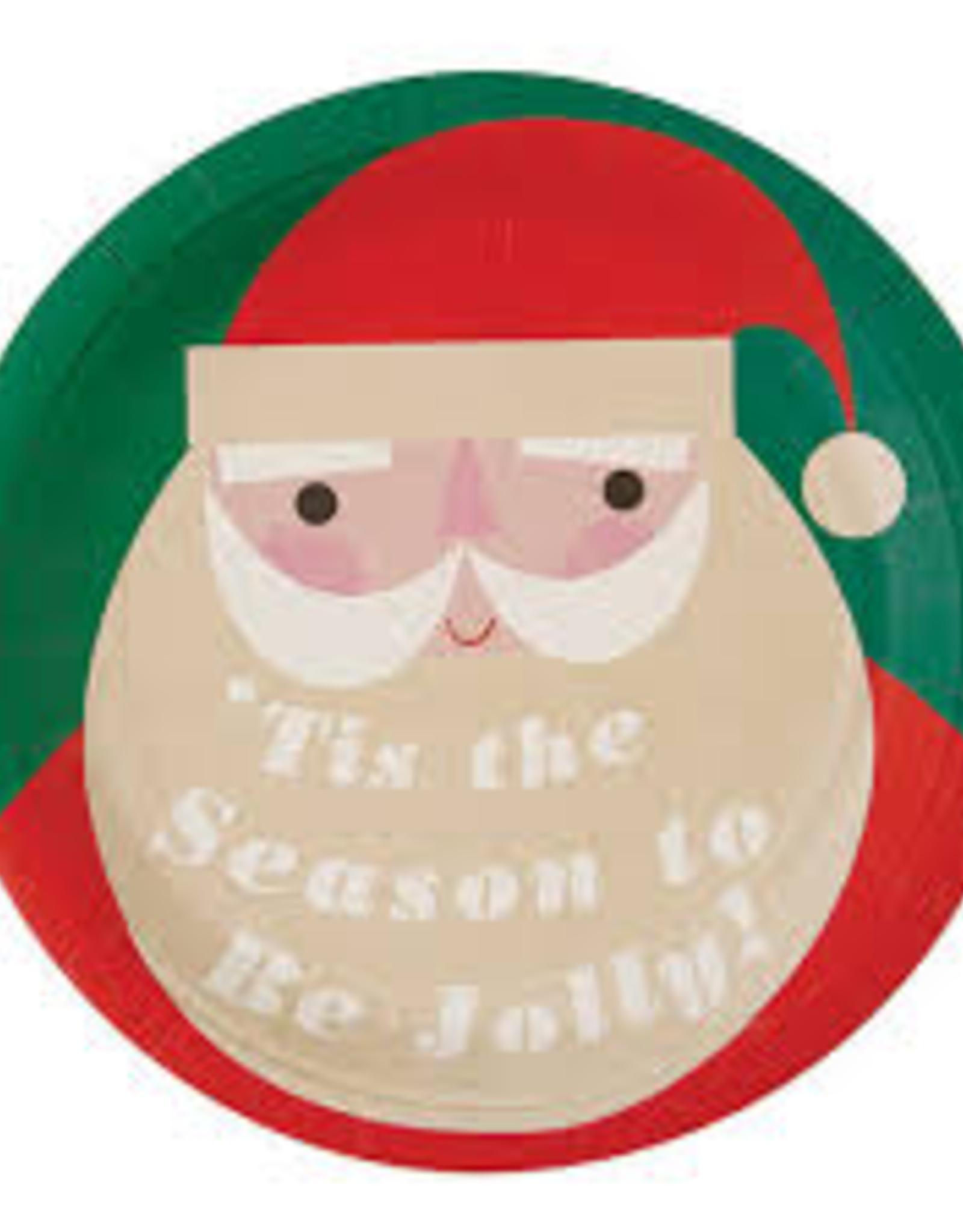 Santa Paper Plate Set