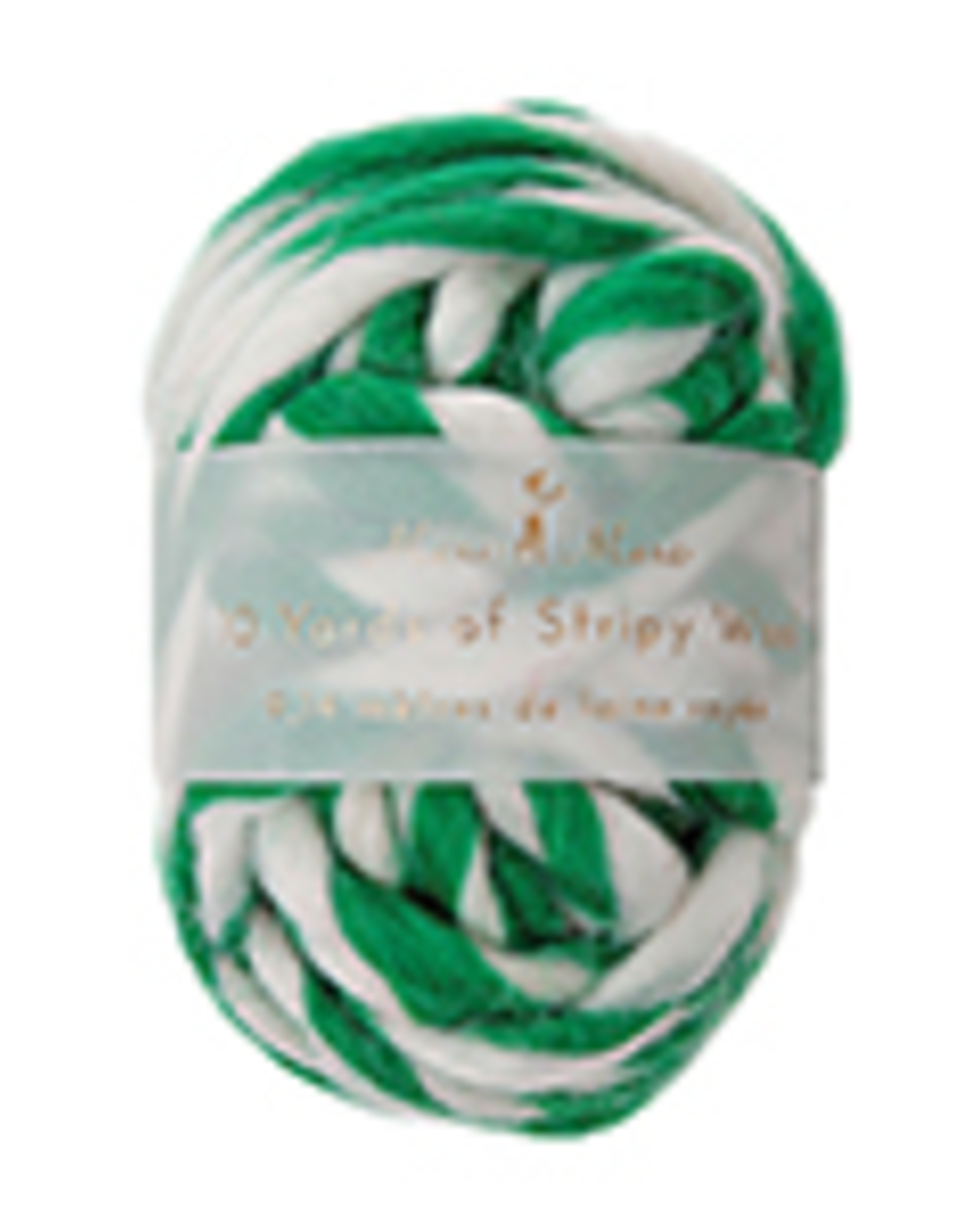 Stripey Wool Ribbon Green
