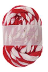 Stripey Wool Ribbon Red