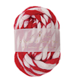 Stripey Wool Ribbon Red