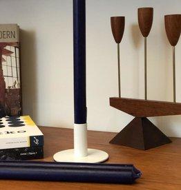 Modern Dinner Candle, Dark Blue