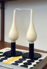 "Danish Drop Candles 7"" Pair, Ivory"