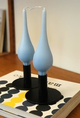 "Danish Drop Candles 7"" Pair, Ice Blue"