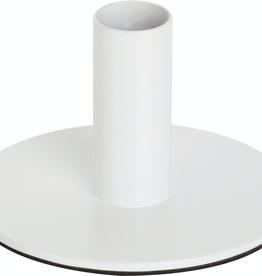 Modern Metal Candle Holder, White