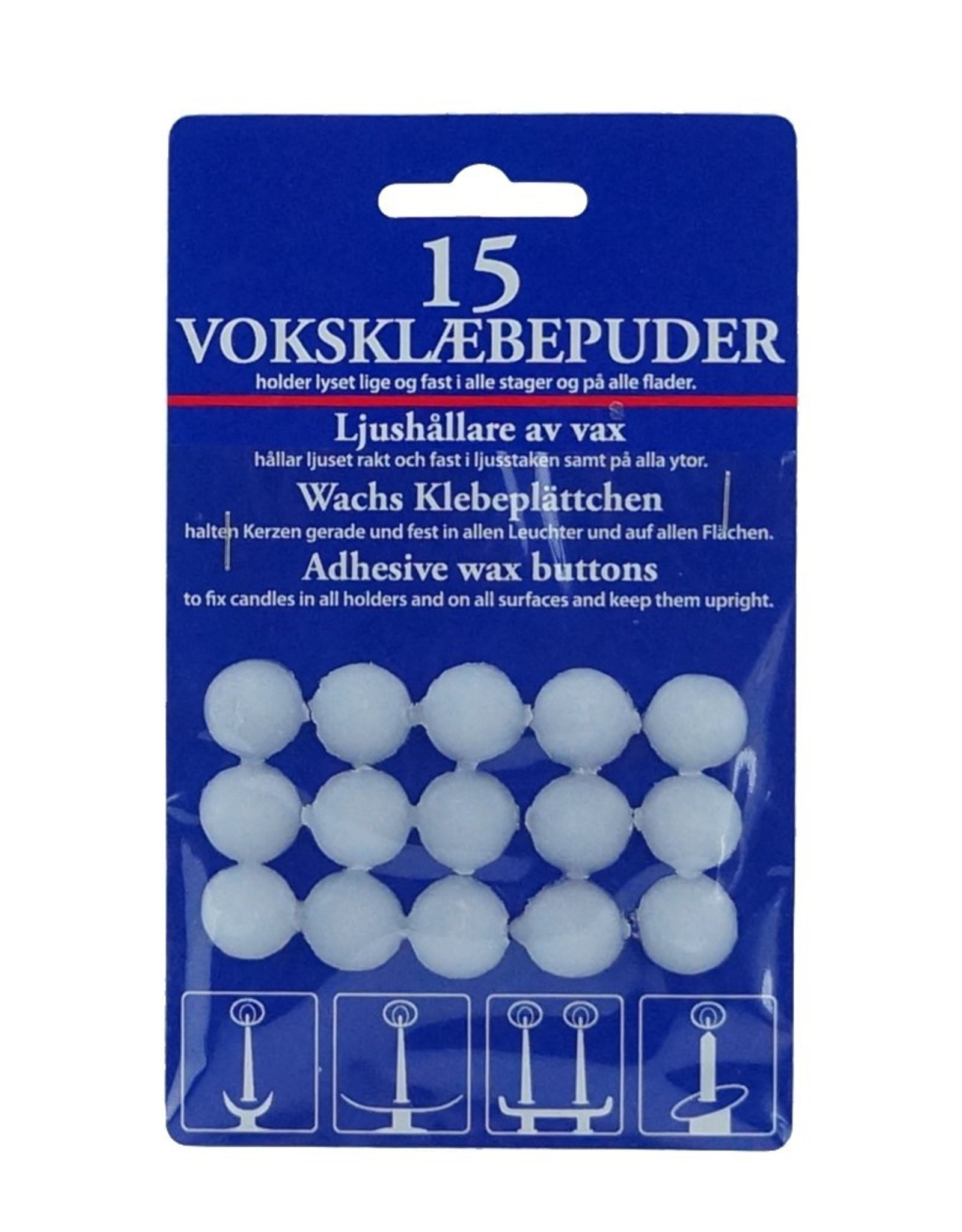 Candle Wax Fasteners, 15/pack