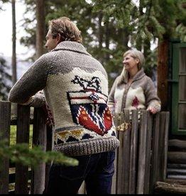 Handknit Yukon Coat of Arms  Sweater