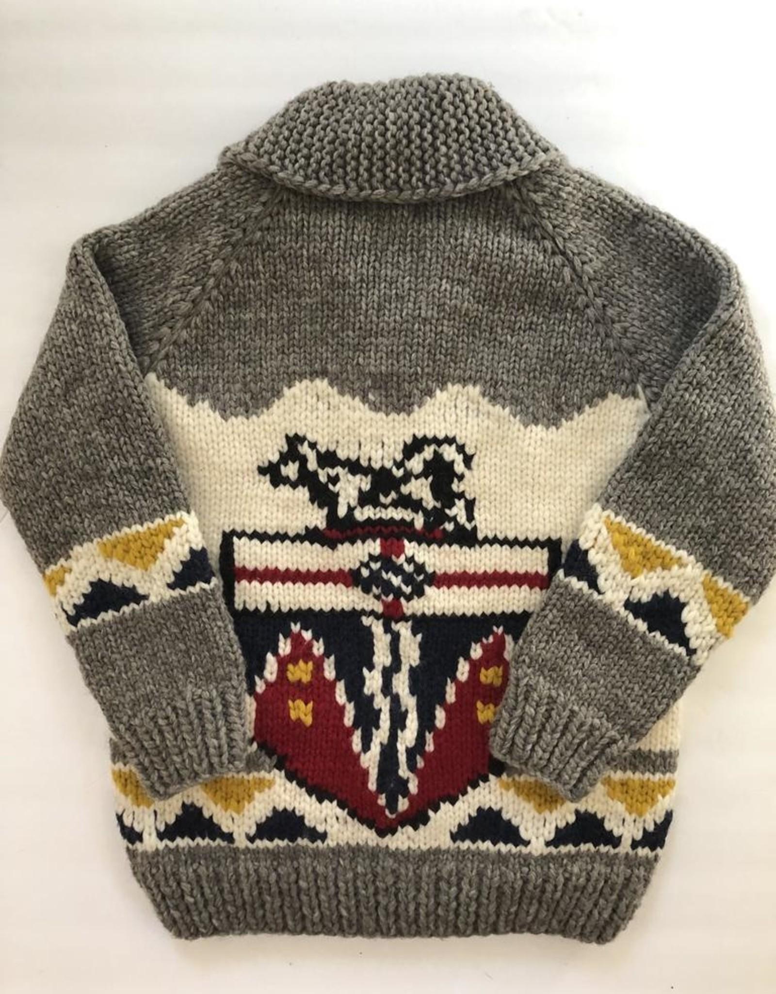 Handknit Yukon Coat of Arms Heritage Sweater