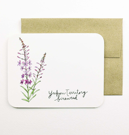 Yukon Territory Fireweed Card