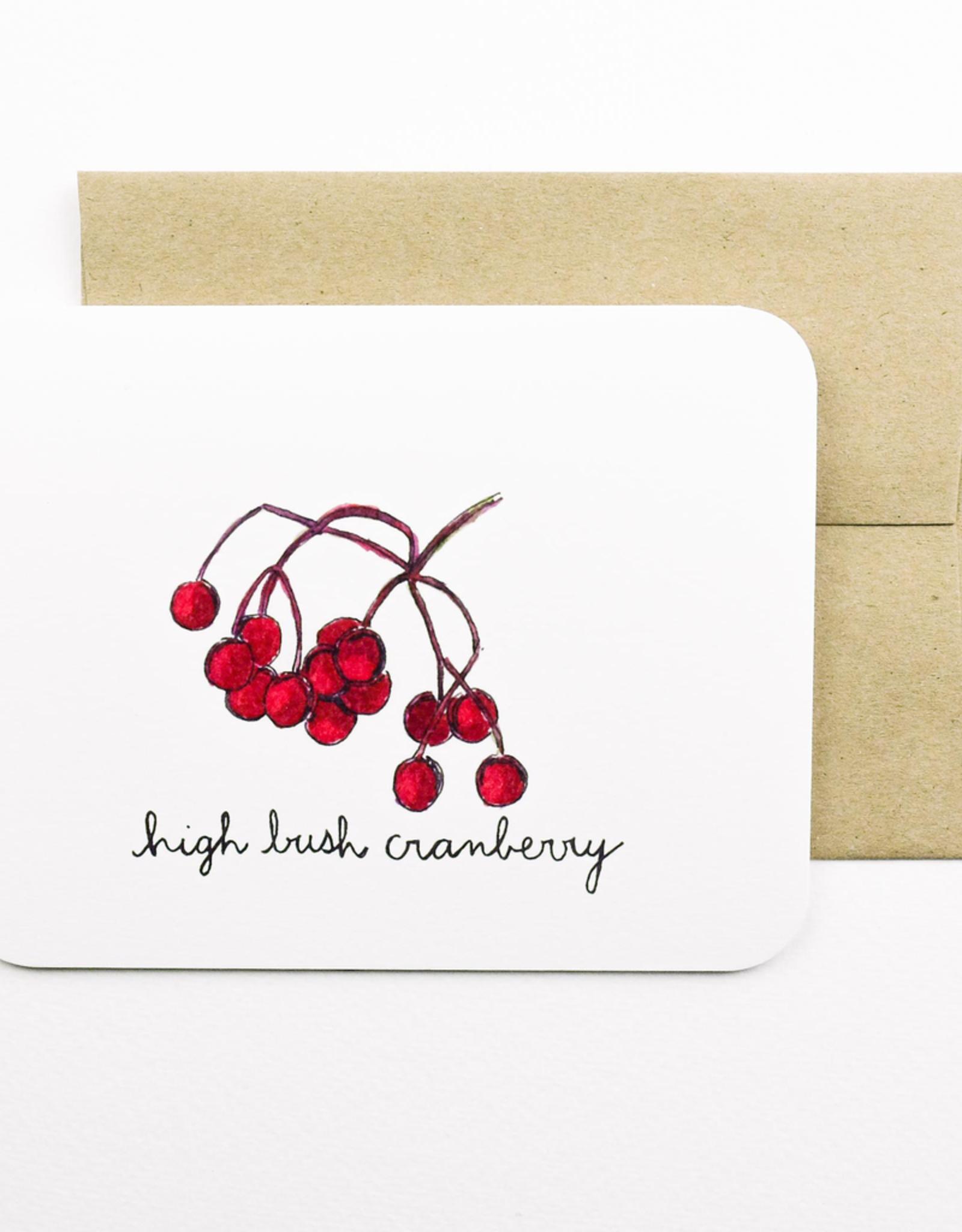 High Bush Cranberry Card