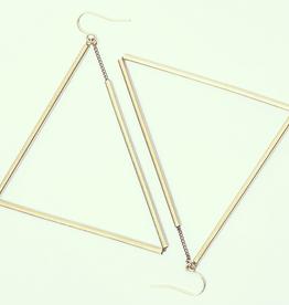 Trigg Earrings, Brass