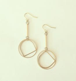 Juupe Earrings, Brass