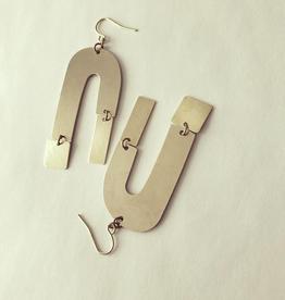 Kruum Earrings, Brass