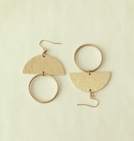 Dutte Earrings, Brass
