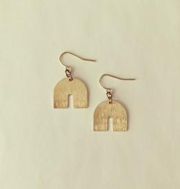 Juuk Earrings, Brass