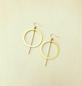 Drue Earrings, Brass