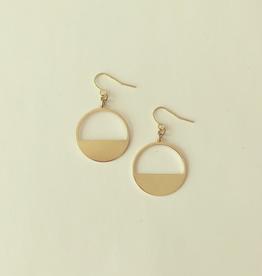 Bilke Earrings, Brass
