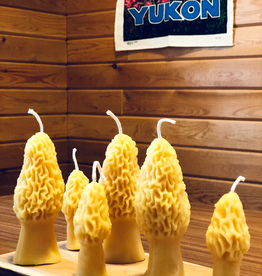 Yukon Morel Beeswax Candles, Set/2