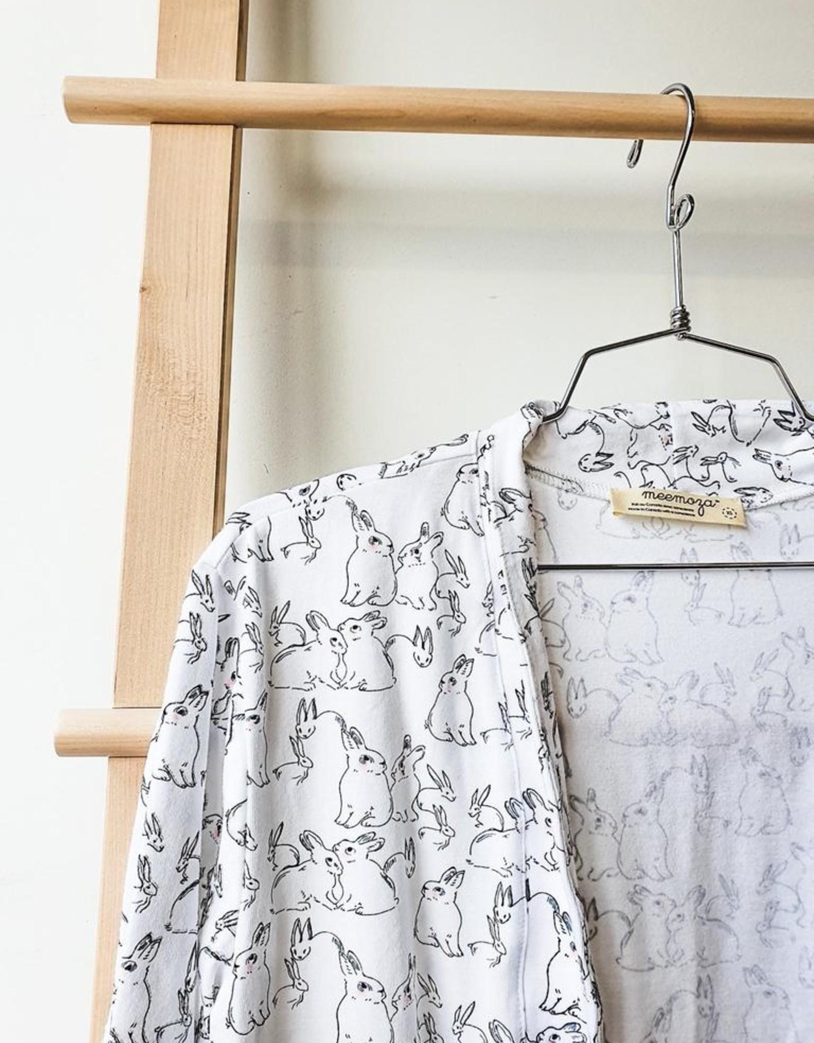 Kimono Cardi - Organic Cotton - Bunny Print