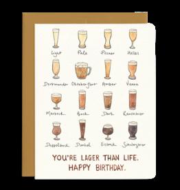 Lager Birthday Card