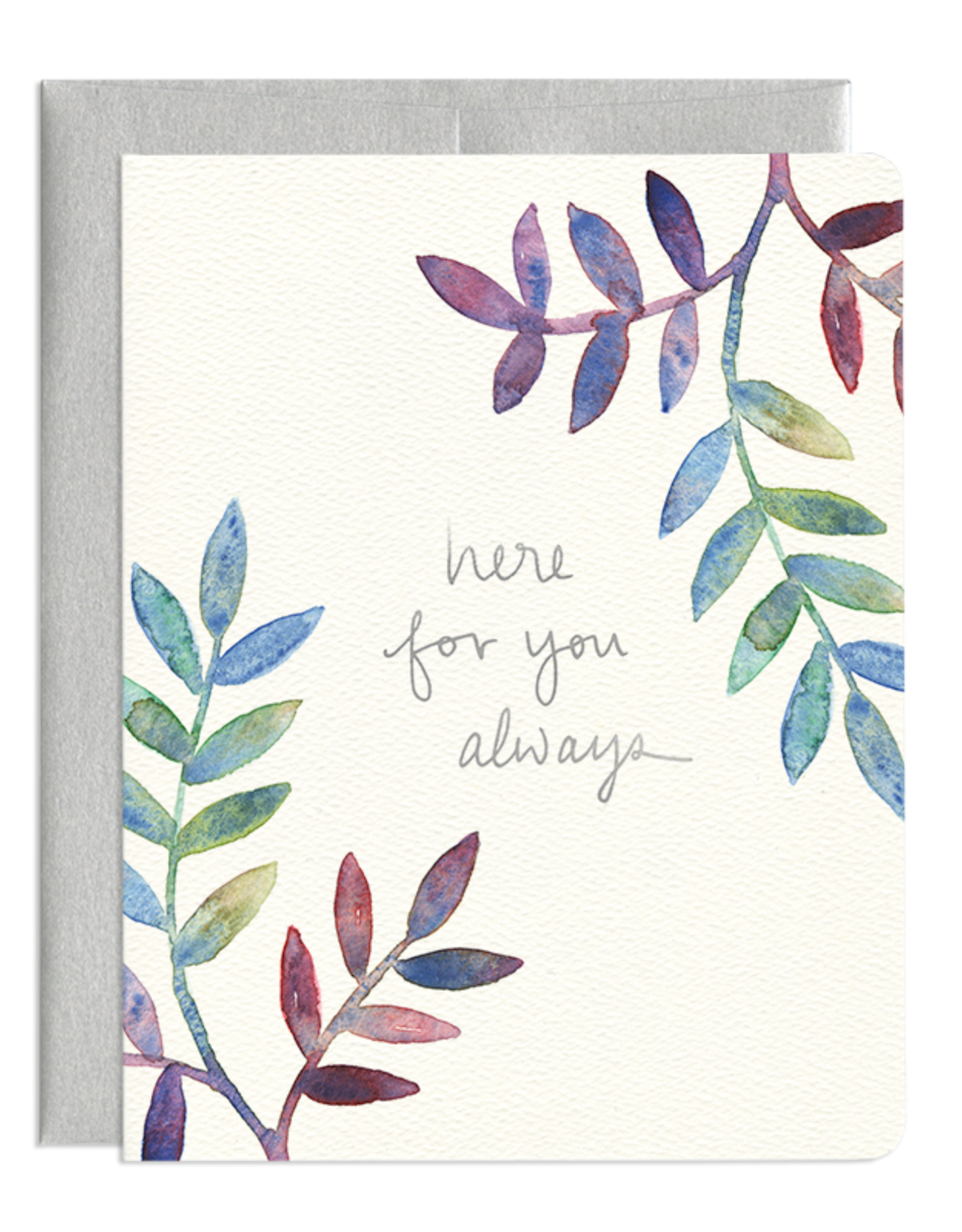 Here For You Leaves Card
