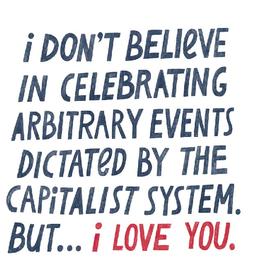 Capitalist I Love You Card-2038