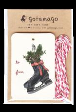 Hockey Skate Gift Tags, Set/10