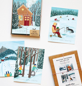 Assorted Winter Card, Set/8