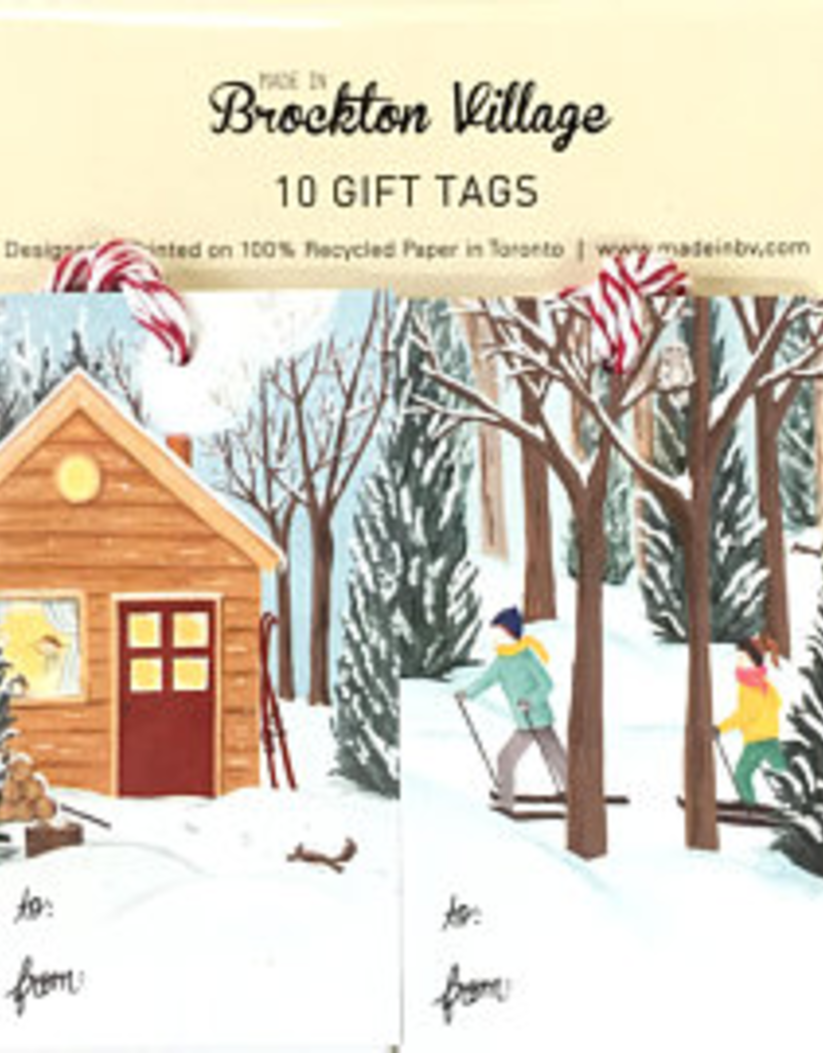 Winter Cottage & Cross Country Tags, set