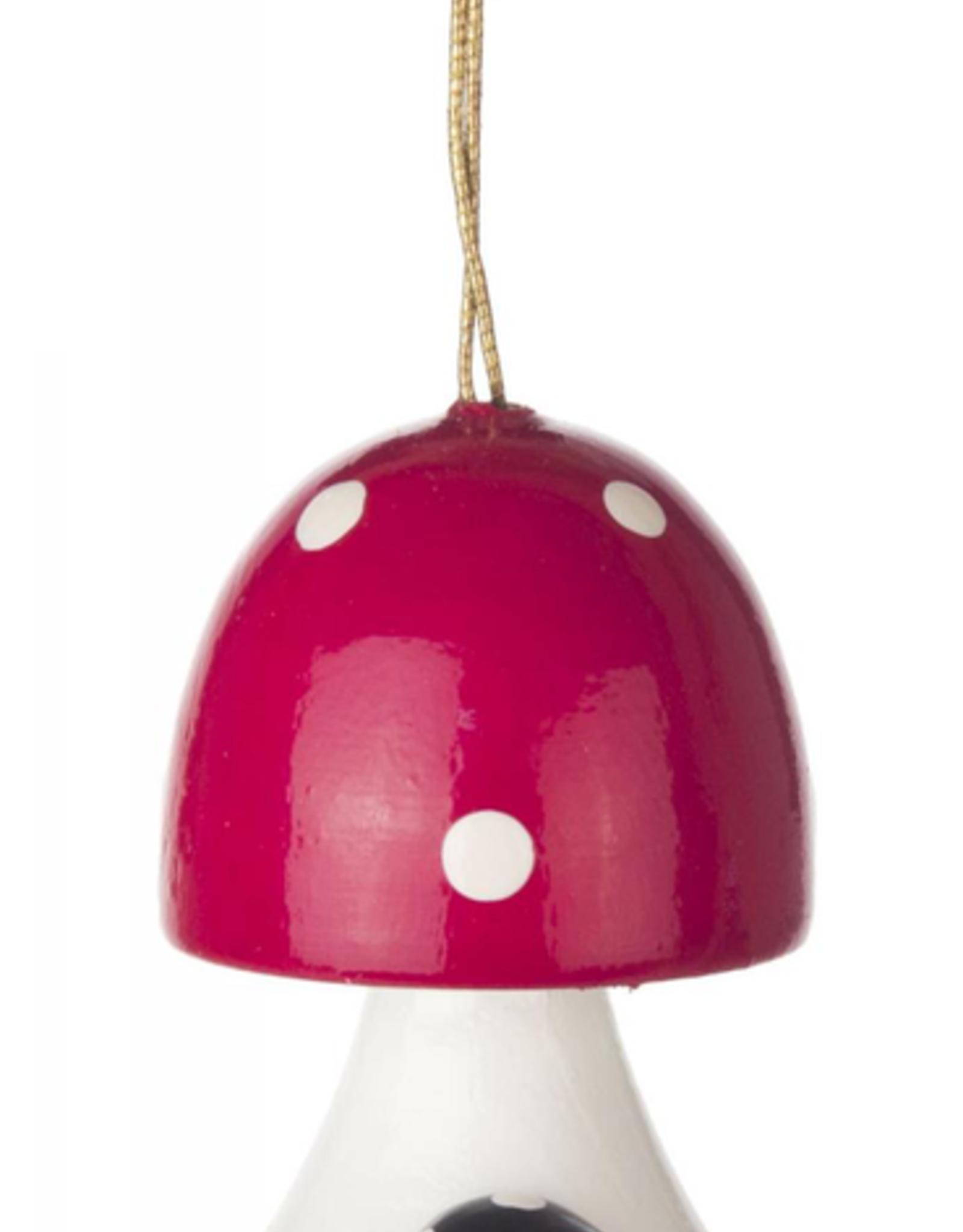 Wooden Mushroom Ornament