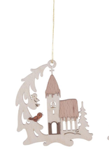 Winter House Ornament (Single) Assorted