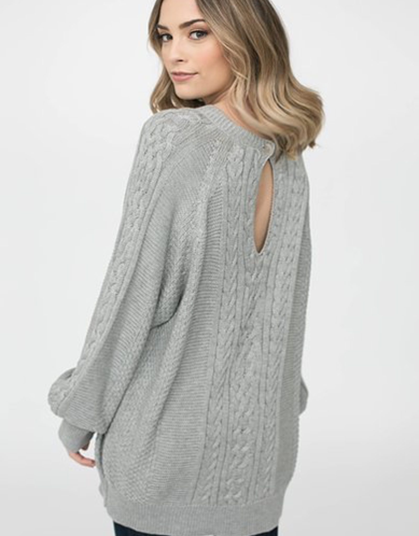 Blaire Sweater Keyhole Back