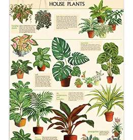 House Plants Vintage Style School Chart