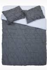 Moncton Duvet Set King Charcoal