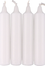 14mm Pyramid Candle White Set/4