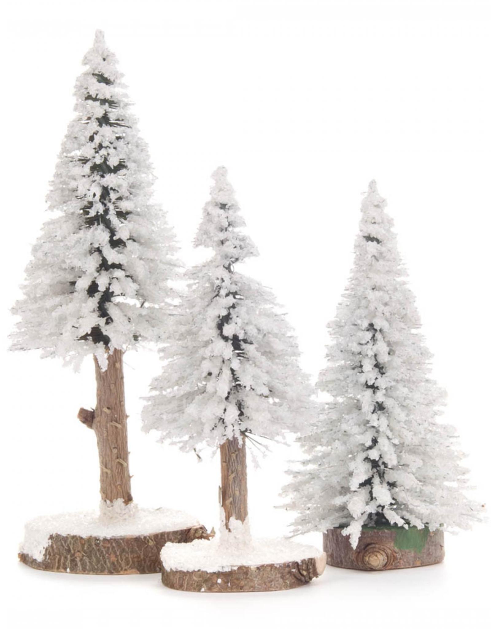 Spruce Trees Green 2-16cm White Set/3
