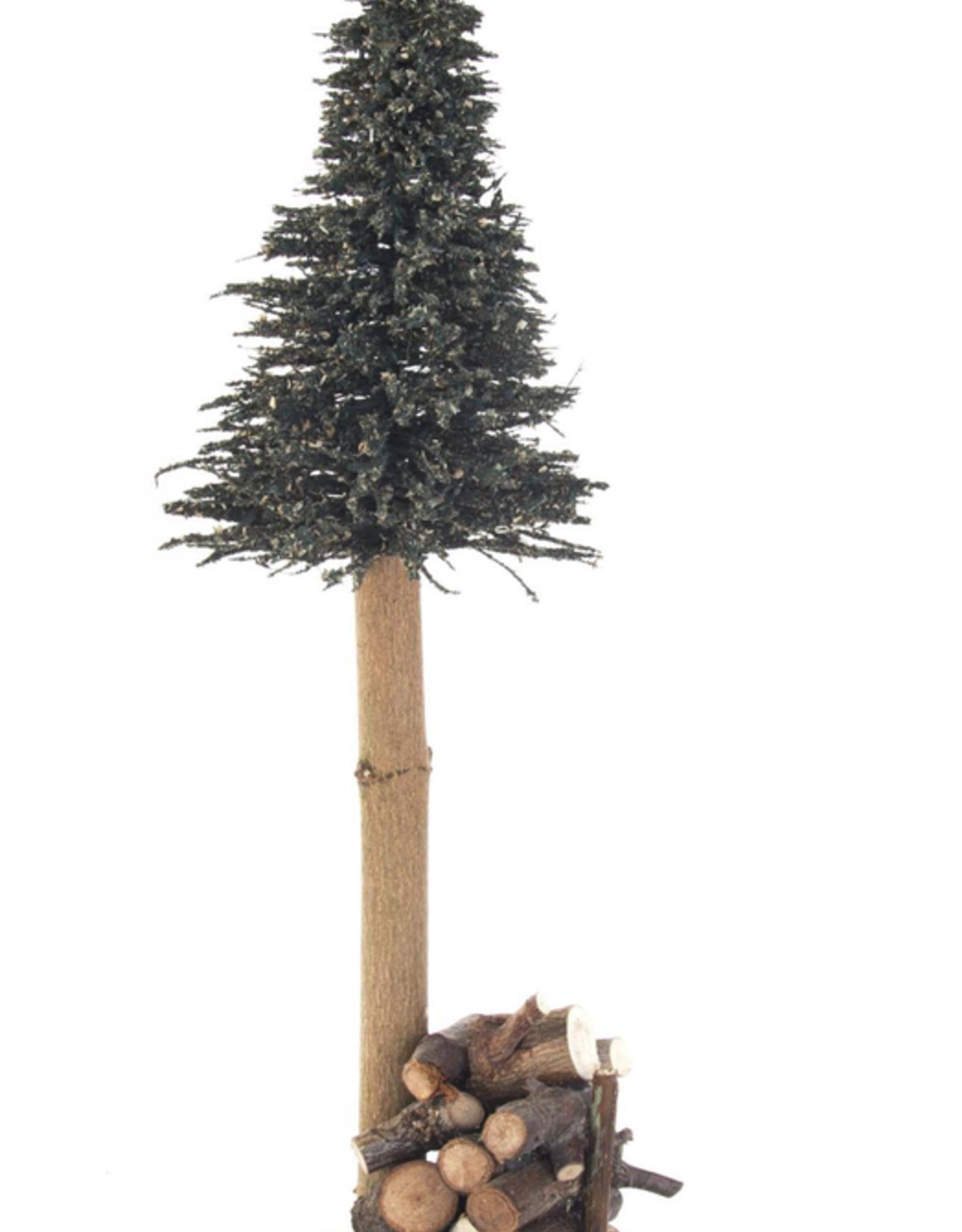 Green Tree W. Woodpile 38 cm