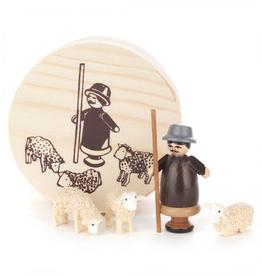 Miniature Chip Box Set Shepherd W. Sheep