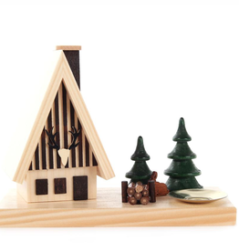 Forest Smoking (Incense) House w. Candleholder 11cm x 15cm