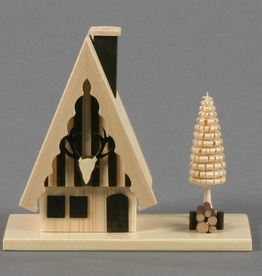 Hunters Smoking (Incense) Cabin 13cm x 14cm